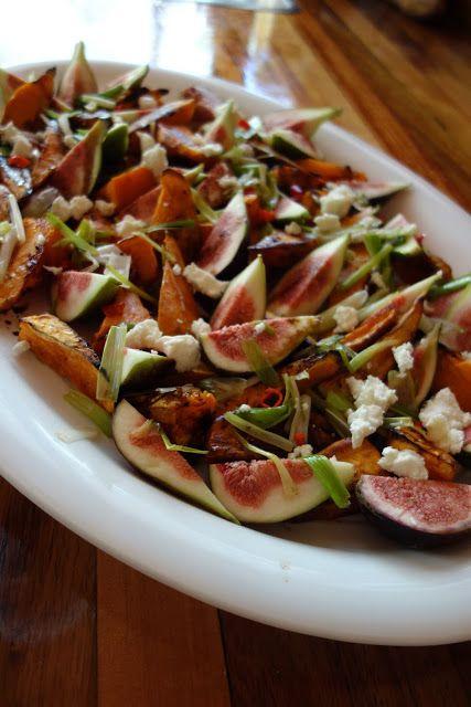 roasted sweet potato and fresh fig salad | Salad Bowl | Pinterest