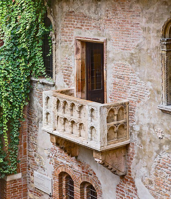 Verona, Juliet's balcony Shakespeare Pinterest