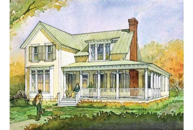 Farmhouse 2414 Sf 3 Bed 2 Bath 2 Story Dream Home Plans
