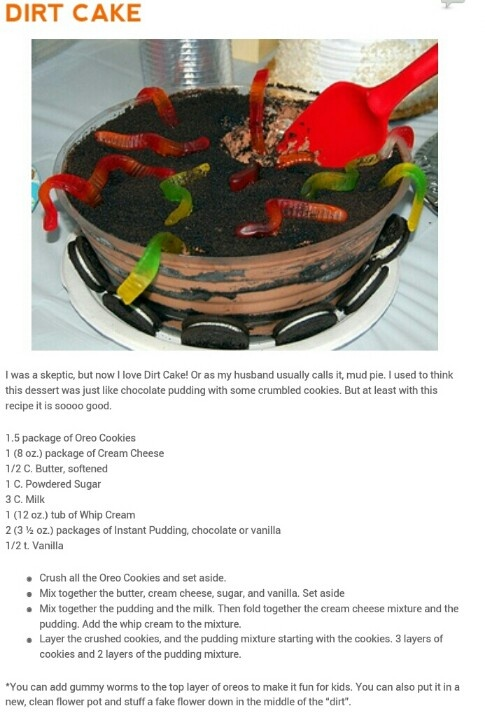 Irish Style Dirt Cake Recipes — Dishmaps