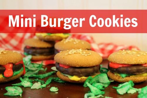 Mini Burger Cookies | CREATE {Kids} | Pinterest