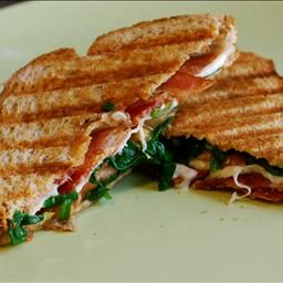Grilled Mozzarella and Spinach BLTs | b. Grub | Pinterest