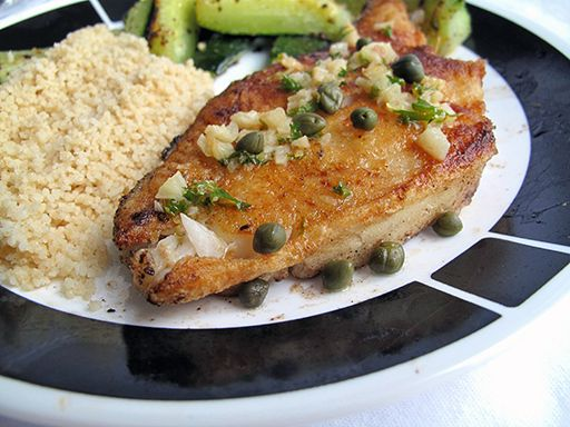 Halibut With Lemon, Butter, Caper And Dill Sauce Recipe ...