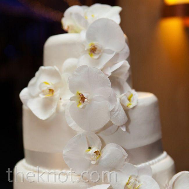 white orchid wedding cake wedding cakes pinterest
