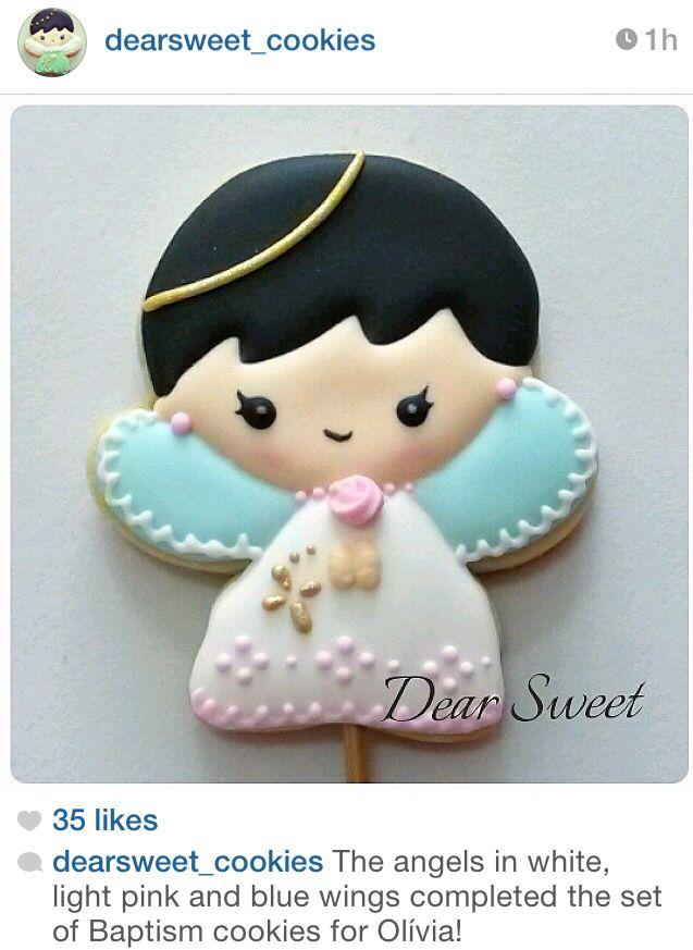 Angel sugar cookies | Galletas | Pinterest