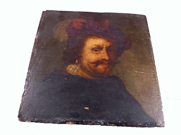Antique oil painting rare antiques pinterest for Most valuable antiques to look for
