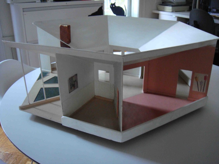 Mid Century Modern Dollhouse Handmade In 1967 By H P Mahon