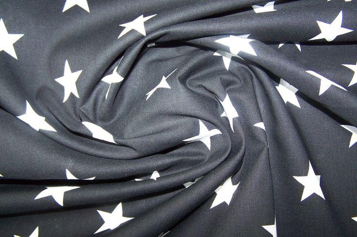 grandy j swafing sterne stars baumwollstoff grau. Black Bedroom Furniture Sets. Home Design Ideas