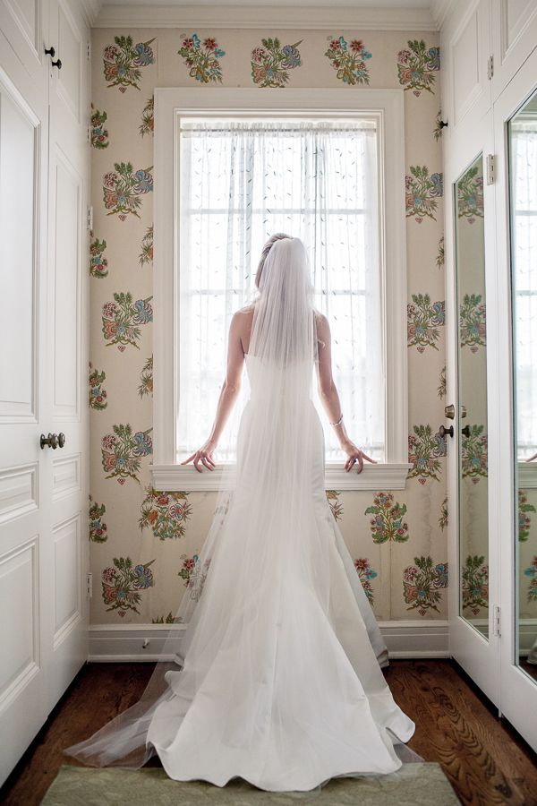 Long Veil With Wedding Dress