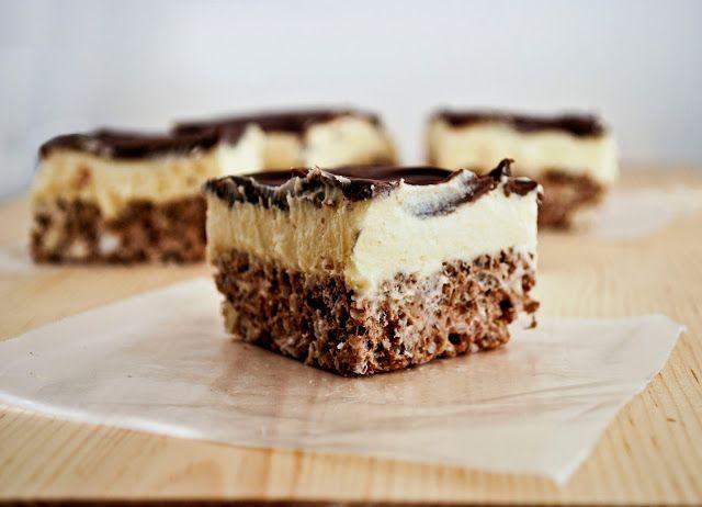 Nanaimo Bar Rice Krispy Treats | BAKE // Brownies and Blondies and Ba ...