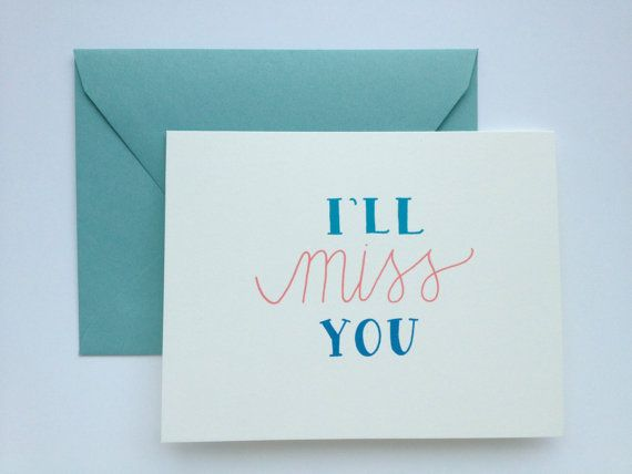 Ill Miss You Love Friendship Going Away Greeting Card Friendship Malta And Miss You