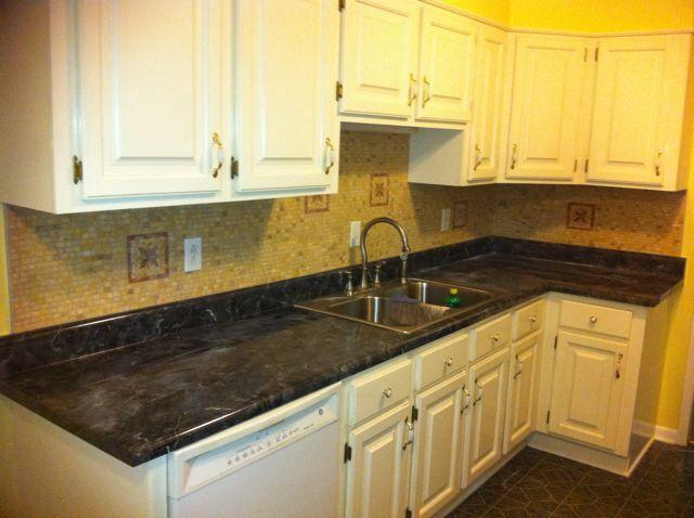 tumbled marble backsplash home sweet home pinterest