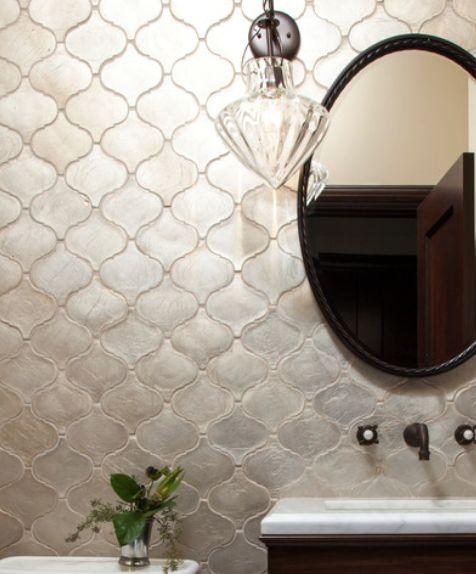 Silver Arabesque Tile Backsplash Tile Pinterest