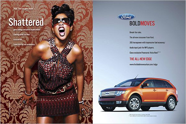 Ford Edge Advertisement #ford #edge #print #ad #advertisement #cars #auto #crossover #beyerford #newjersey