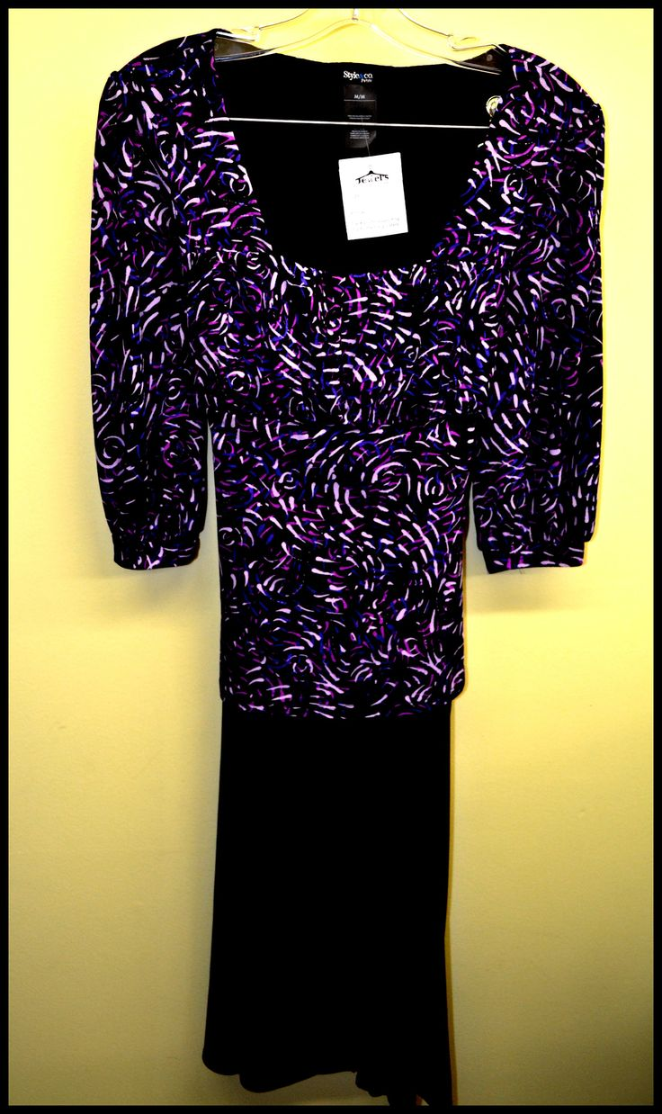Beautiful 3/4 sleeved blouse the purple is gorgeous matched with a