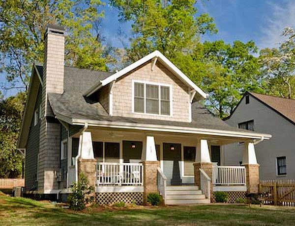Classic craftsman cottage with flex room Classic bungalow house plans