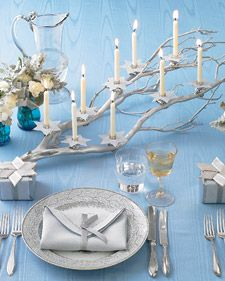Create a branch menorah.