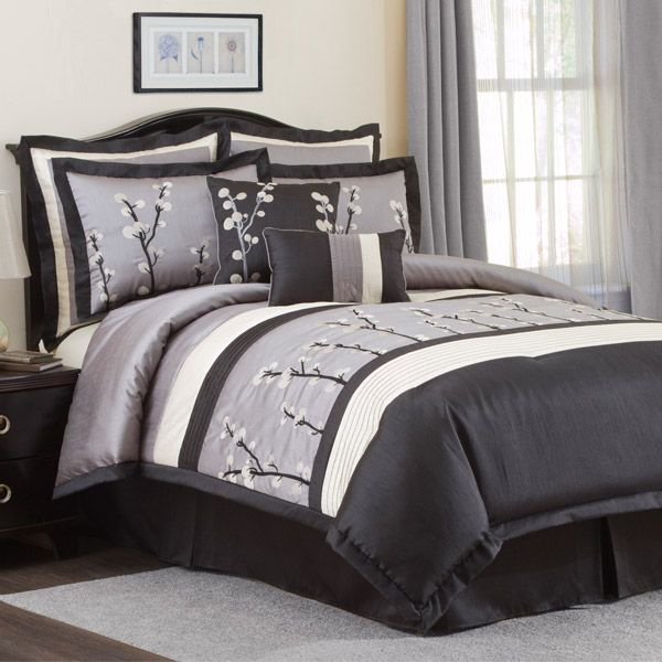 Black and Silver Comforter Sets 600 x 600