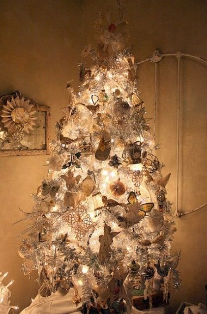 Vintage white christmas tree sugar pinterest for White christmas tree pinterest
