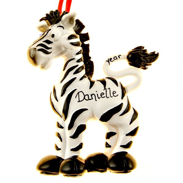 Zebra christmas tree decorations holliday decorations for Decoration zebre
