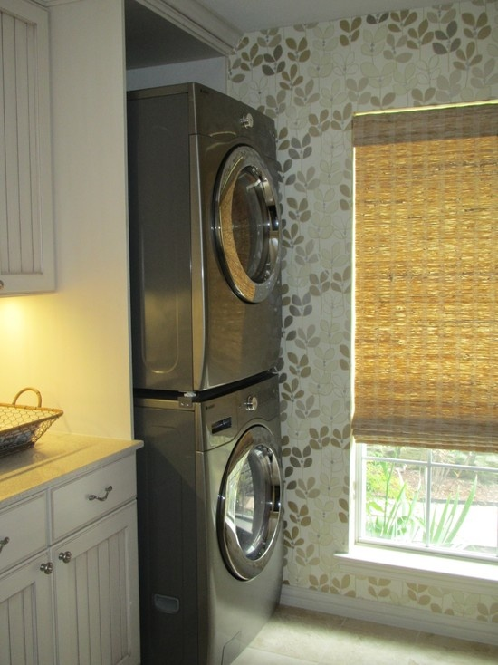 wallpaper for one laundry room wall home sweet home