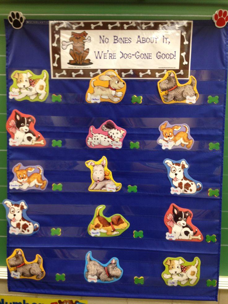 dog theme classroom  behavior chart 2nd grade pinterest