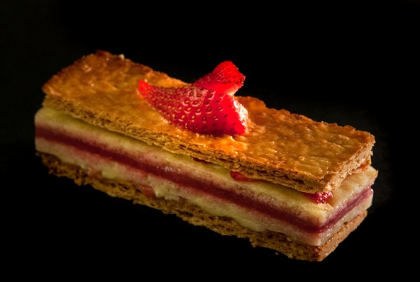 Pistachio And Strawberry Mousse Mille Feuilles Recipes — Dishmaps