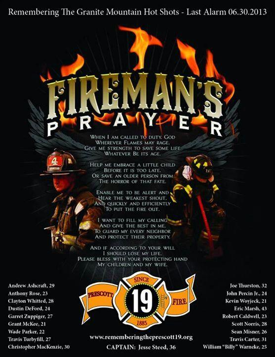 Firemans prayer