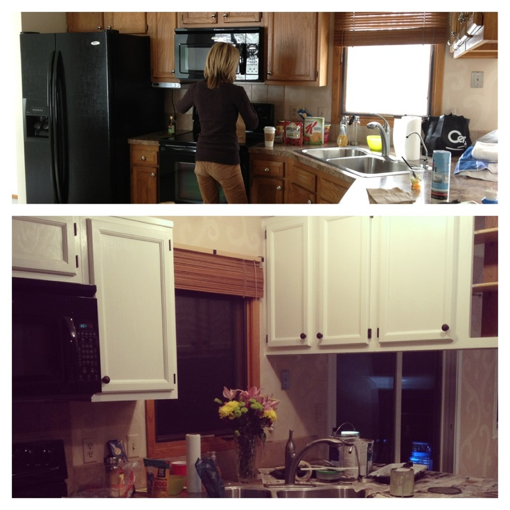 How to Paint Your Kitchen Cabinets White! Quick & Inexpensive  Let