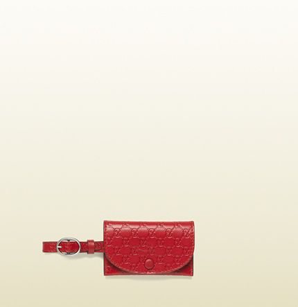 red microguccissima leather snap luggage tag 295258 BMJ1N 6523 $120