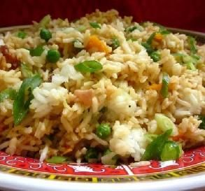 "New Year Fried Rice: ""Let's talk about fried rice. Okay, that's long enough. Let's eat!"" -gailanng"