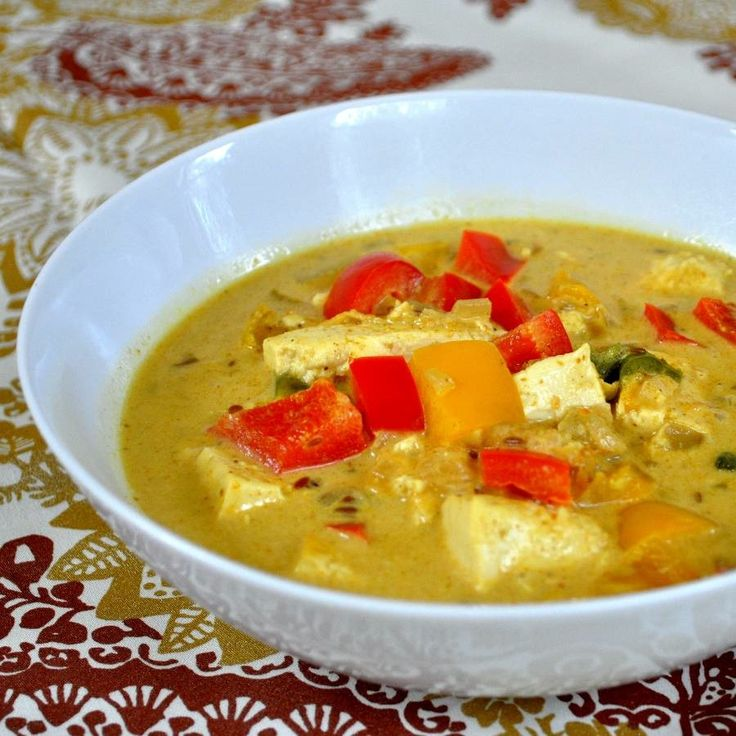 Tofu in Coconut Curry Sauce   Recipes to try   Pinterest