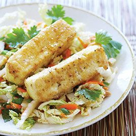 Warm Cabbage Salad with Crispy Tofu - Cook's Illustrated