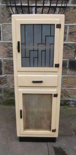 Vintage retro upright wooden kitchen larder unit cupboard for Hygena vintage kitchen units