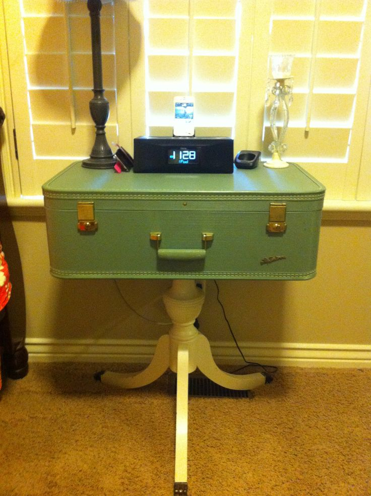 Vintage suitcase nightstand  Theres no place like home  Pinterest