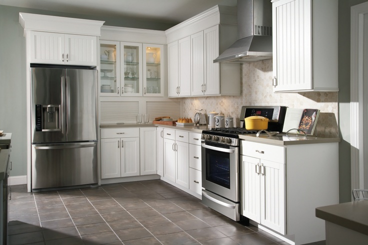 Ellsworth White Cabinets With Beadboard Detail By Aristokraft Cabinets