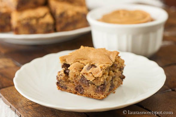 Peanut Buttery Blondies | Desserts and Sweets | Pinterest