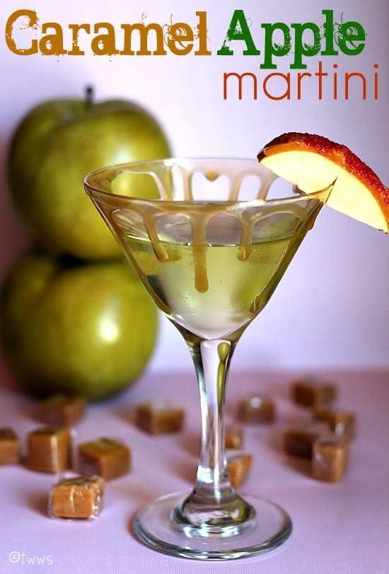 caramel apple martini.... | food and drink | Pinterest