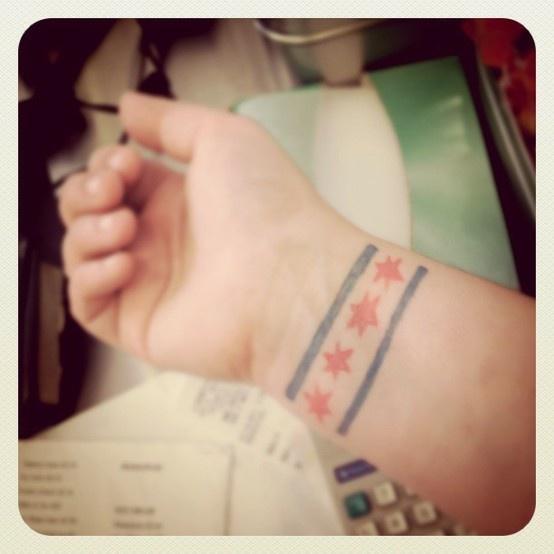 chicago flag tattoos