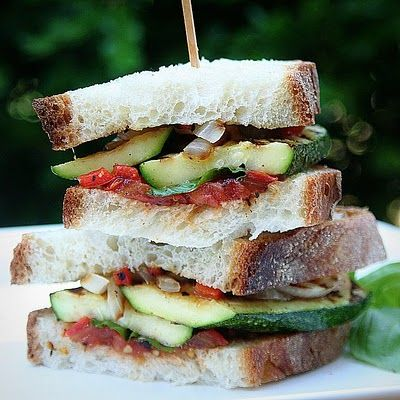 Grilled Vegetable Panini | Sandwich Time! | Pinterest