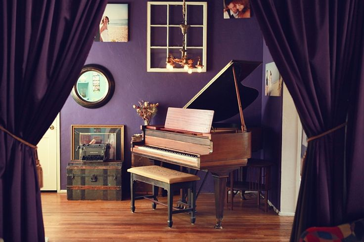 Baby grand piano in our living room home pinterest for Baby grand piano in living room