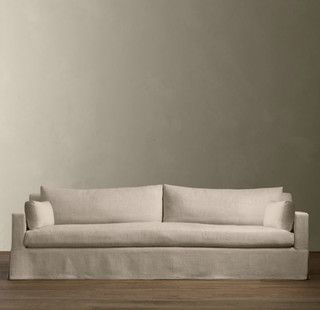 arm slipcovered sofas contemporary sofas by restoration hardware