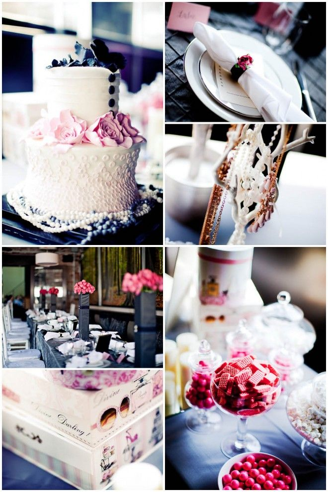 coco chanel baby shower theme would be cute for a bridal shower too