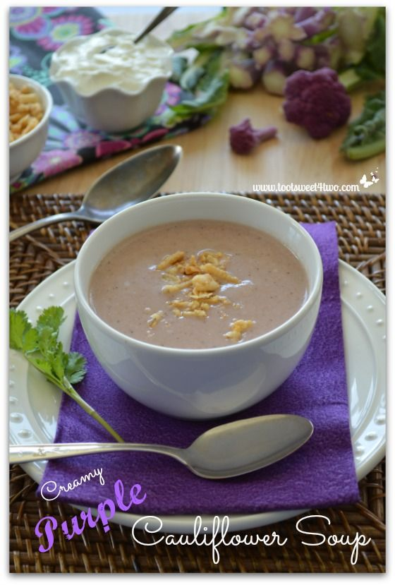 Creamy Purple Cauliflower Soup | Recipe