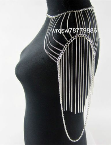 B90 New Women Fashion Body Chains Shoulder Jewelry Long Necklace