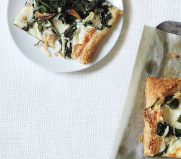 Make ahead Broccoli Rabe and Pecorino Tart