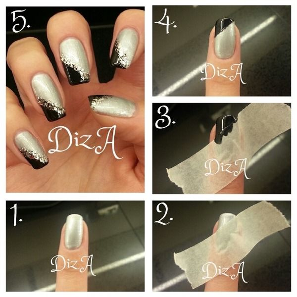 Pictorial of my new years eve nails.