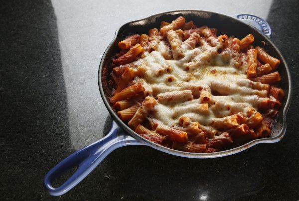 Skillet Rigatoni | This is a true one-dish meal. You don't even need ...