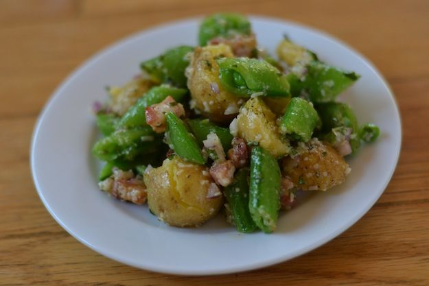 Sugar Snap Pea and Potato Salad with Pancetta, Pecorino and Mint ...