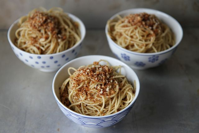 Pasta with brown butter and breadcrumbs by Heather Christo, via Flickr